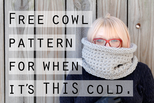 Free Pattern - The Long John Cowl by Hands Occupied