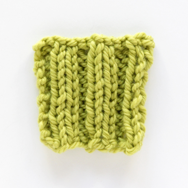 How to knit rib stitch