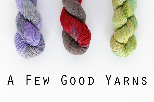 A Few Good Yarns - A review of A Good Yarn Sarasota's custom colorways. A yarn review from Hands Occupied.