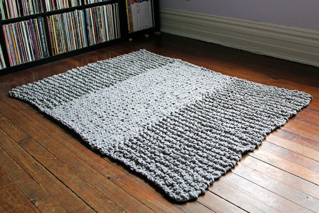 Click Through For A Free Pattern Bulky Knit Rug