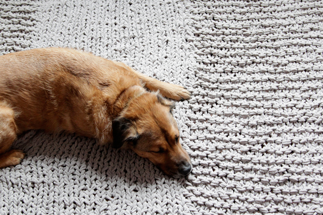 Bulky Knit Rug Pattern Free Knitting Pattern Hands Occupied