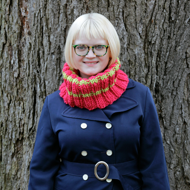 Chunky Ribbed Cowl & How to Knit Rib Stitch
