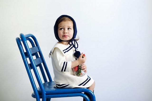 Matroskjolen child's dress by Charlot Pettersen