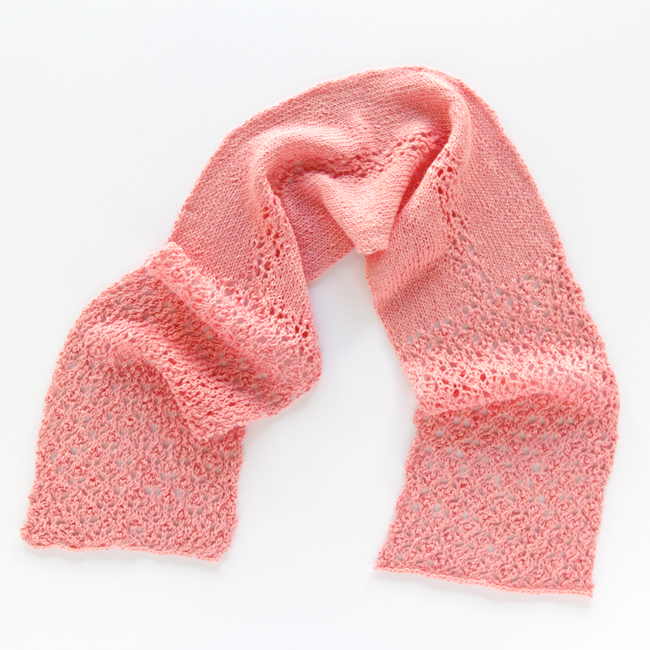 Get your hands on the English Lace Scarf pattern in the June issue of I Like Knitting magazine!