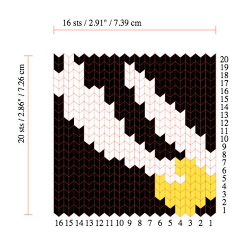 Mini Golden Snitch Sweater Chart