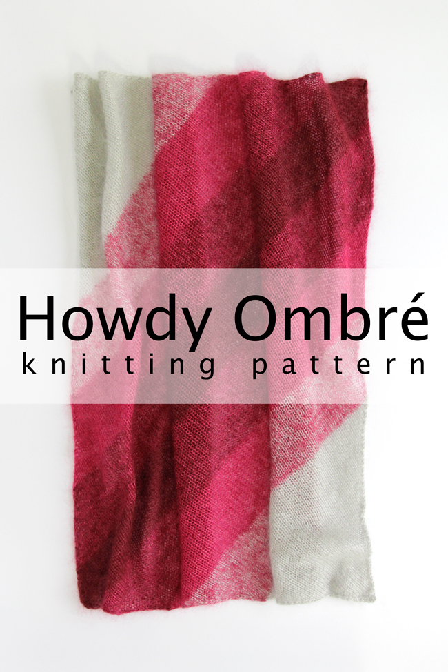 Get your hands on Howdy Ombré, the flexible bandana pattern from Hands Occupied.