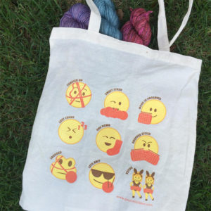Knitting Emoji Tote from PostStitch
