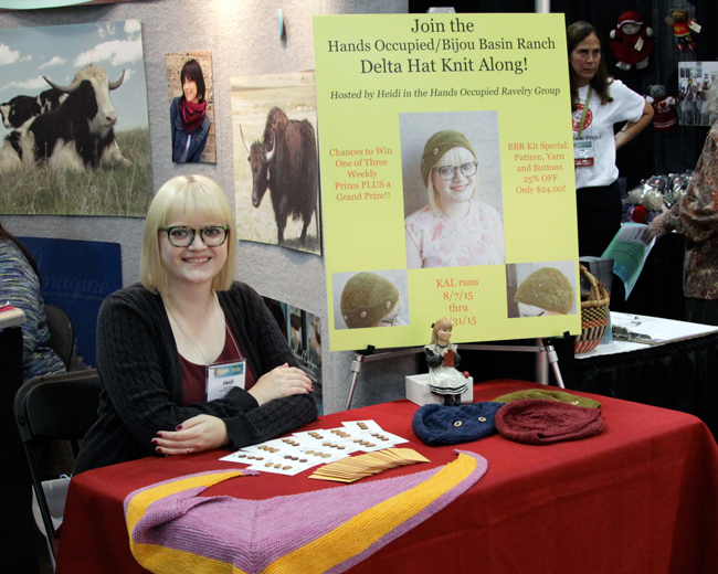 Heidi from Hands Occupied in the Bijou Basin Ranch booth at Stitches Midwest 2015
