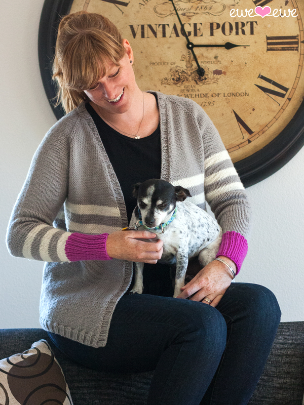 The Zoey Cardigan at Ewe Ewe Yarns