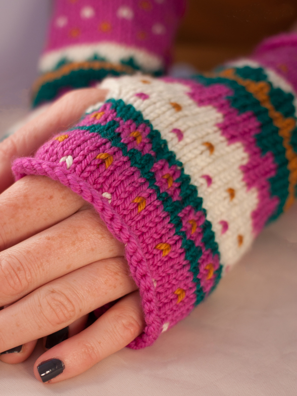 Fair Isle Friends Wrist Warmers  at Ewe Ewe Yarns