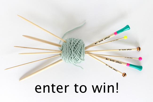 These sustainably produced, colorful knitting needles are made in Berlin and oh-so-fun! Enter to win a pair for yourself or a friend.