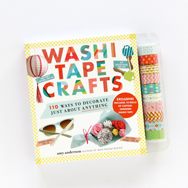 The new Washi Tape Craft Crafts book from Amy Anderson of Mod Podge Rocks is super adorable and packed with fun, easy DIYs!