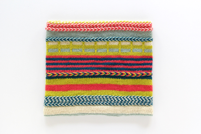 The Yipes Stripes cowl is full of color and is a blast to knit!