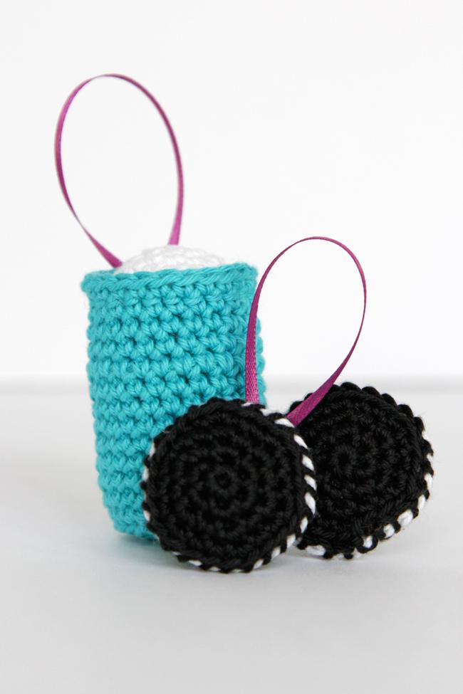 Glass of Milk Ornament & Cookies Ornament – Free Crochet Pattern ...
