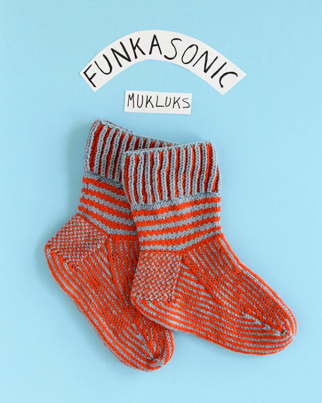 Knit the Funkasonic Mittens & Funkasonic Mukluks to keep toasty this winter!