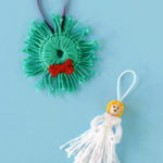 Yarn Scrap Wreath & Angel – 12 Ornaments of Christmas