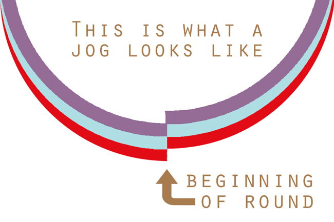 What is a jog in knitting? Click through for a useful definition and video tutorial!