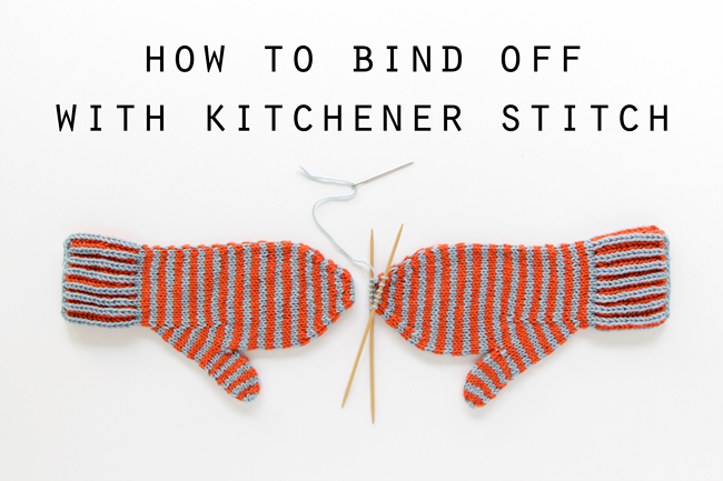 Learn how to bind off a project by grafting ends together. Click through for an easy video tutorial on how to bind off with kitchener stitch.