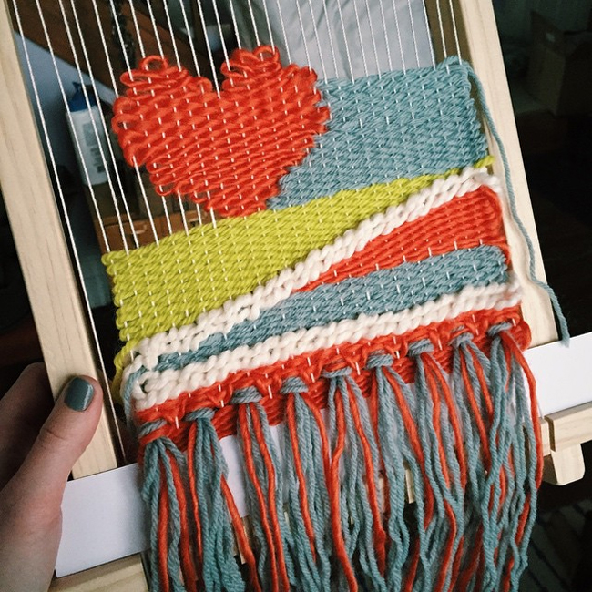 Weaving is so much fun!