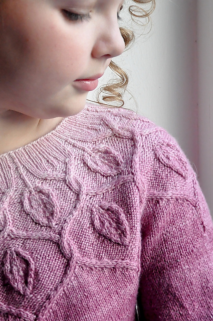 Dancing Leaves Sweater by Pelykh Natalie