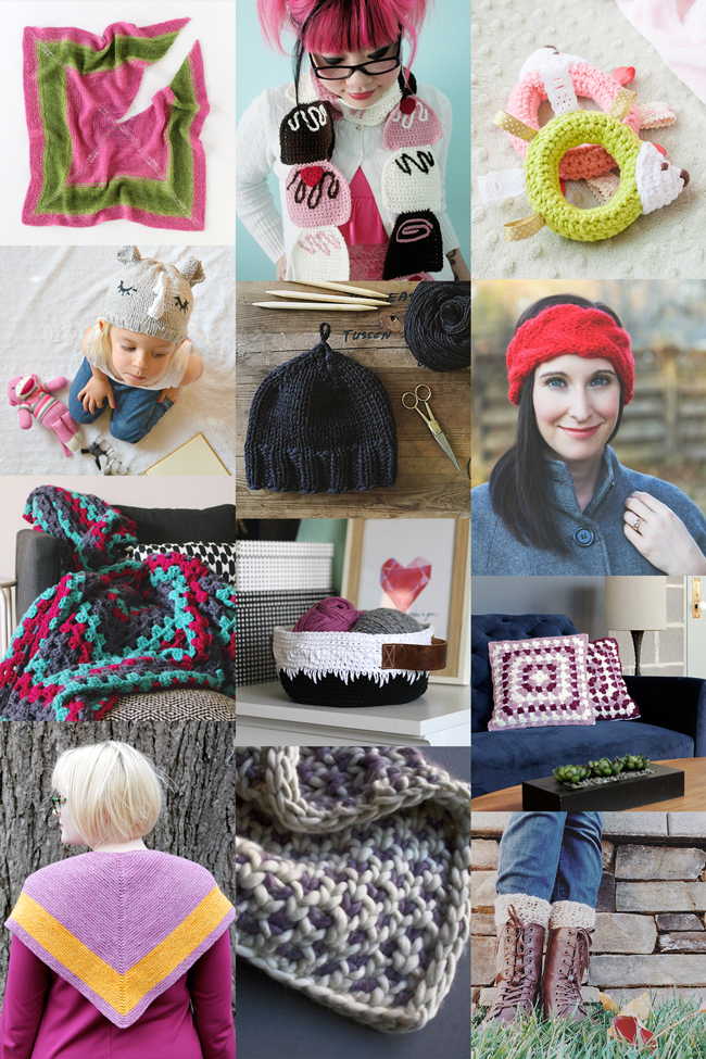 12 free knit and crochet patterns to help you stitch away stress.
