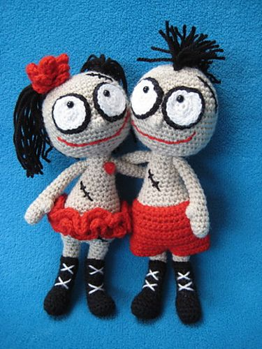 Mister and Misses Voodoo Doll Toys by Millionbells