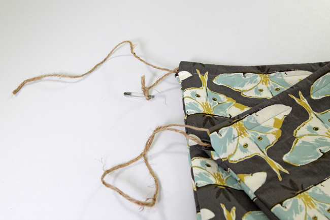 Learn how to sew a super simple drawstring bag in minutes!