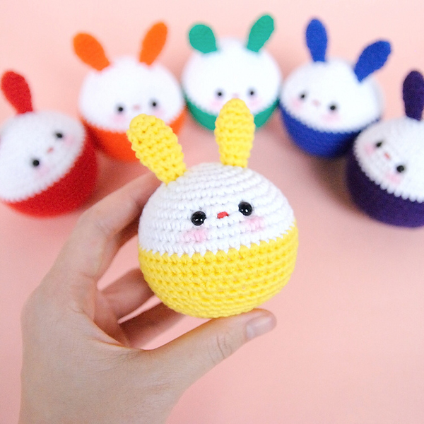 Bunny Crochet Ball by Bomi Kim