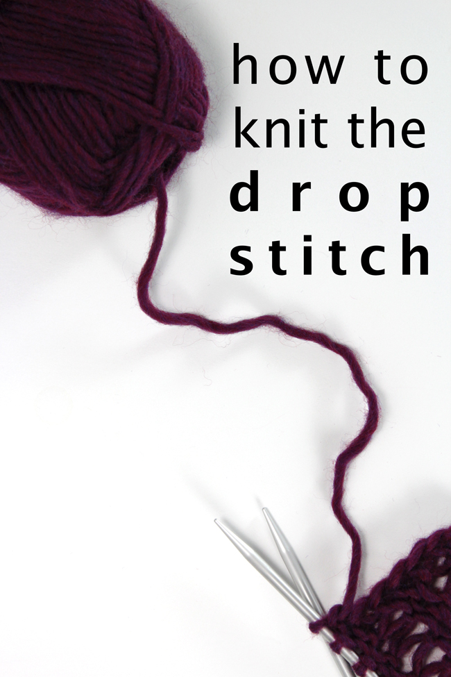 Learn how to knit the drop stitch with this easy to follow video tutorial.