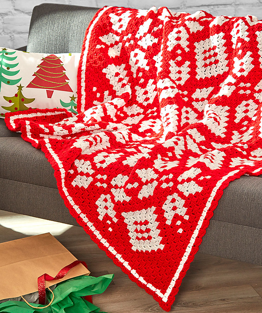 Corner to Corner Snowflake Blanket by Marly Bird