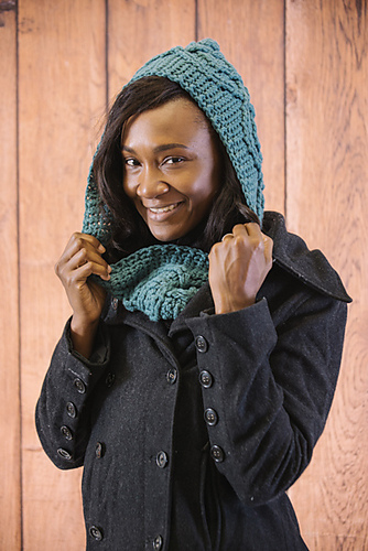 Juniper Hooded Scarf by Kristen TenDyke