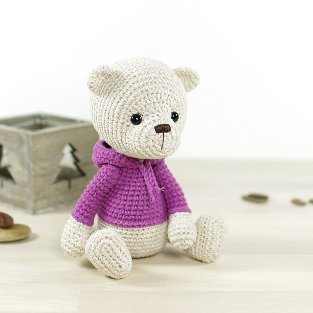 Teddy bear in a hoodie by Kristi Tullus