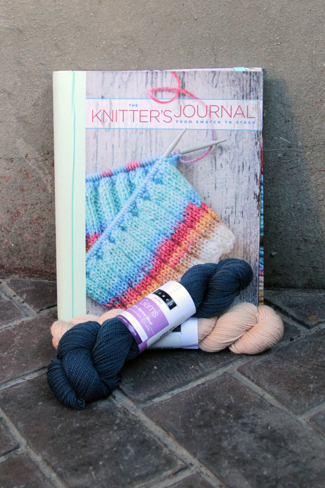 A Thankful Giveaway from Hands Occupied - enter to win two skeins of Louet Gems fingering yarn, a free knitting pattern, and a copy of The Knitter's Journal.