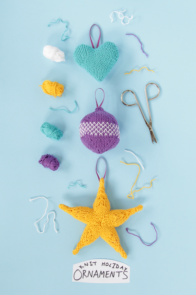 Add some handmade cuteness to your Christmas tree this year - knit up a colorful ornament for your tree with one of these three free patterns.