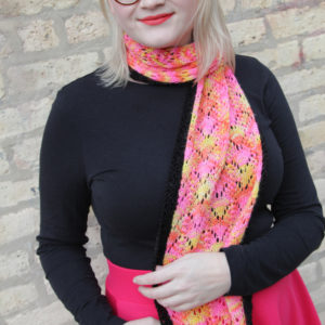 Get your hands on the Rhombuster Scarf pattern, a colorful new design from Heidi Gustad. Don't think scarf patterns can surprise you? Give the Rhombuster a shot to try something new!