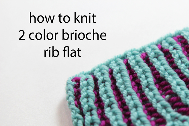 Demystify flat two color brioche rib knitting with this easy to follow video tutorial featuring Heidi Gustad from the blog Hands Occupied.