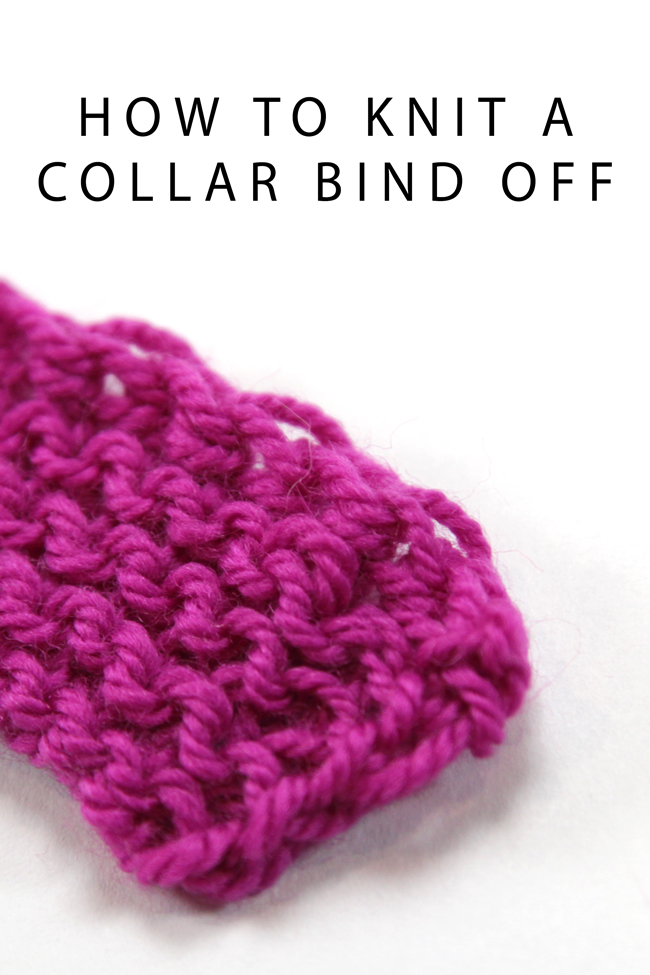 There's more than one way to knit a bind off! Check out this elegant alternative, the collar bind off, in an easy to follow video tutorial featuring knit designer Heidi Gustad.