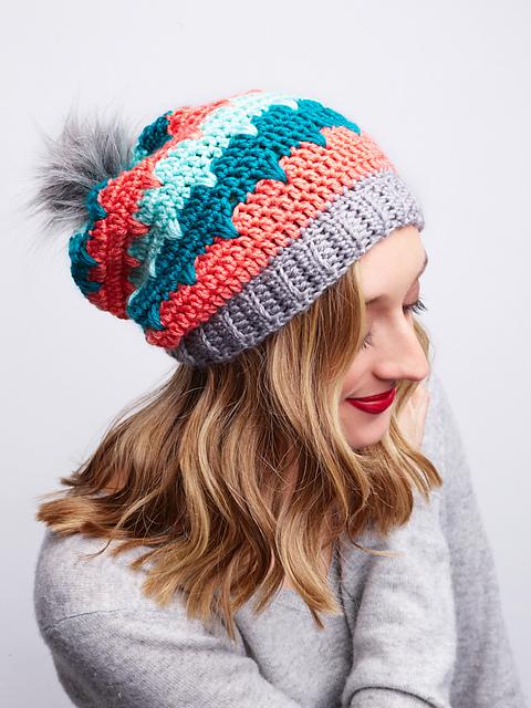 Andean Peaks Crochet Hat by Furis Crochet