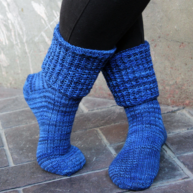 Rick & Roll Socks by Heidi Gustad - Try out this colorful, fun-to-make and beginner-friendly sock knitting pattern!