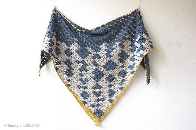 Window into Winter Shawl by Eline Alcocer