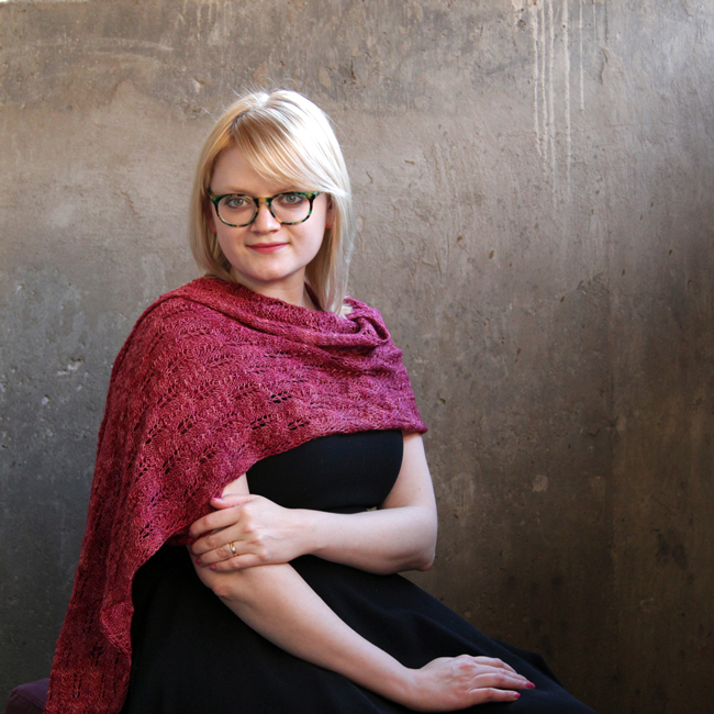 Get your hands on the only shawl you'll ever need, the Abie's Lace Shawl, in the latest issue of I Like Knitting magazine.