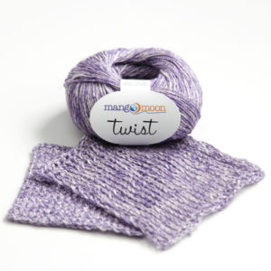 Mango Moon Twist yarn - see how this linen/cotton blend yarn knits and crochets up, and enter to win a skein!