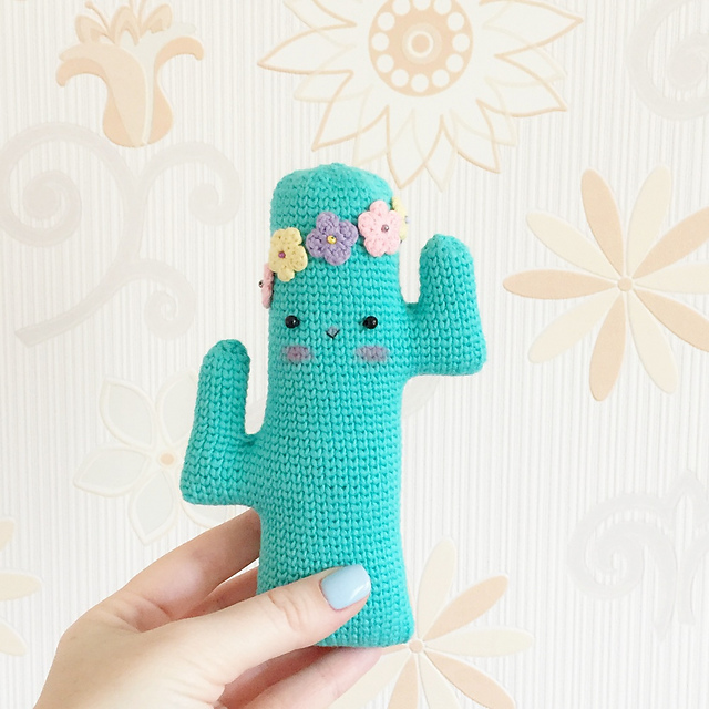 Donna Cactus Toy by Yulia Mozhaiska