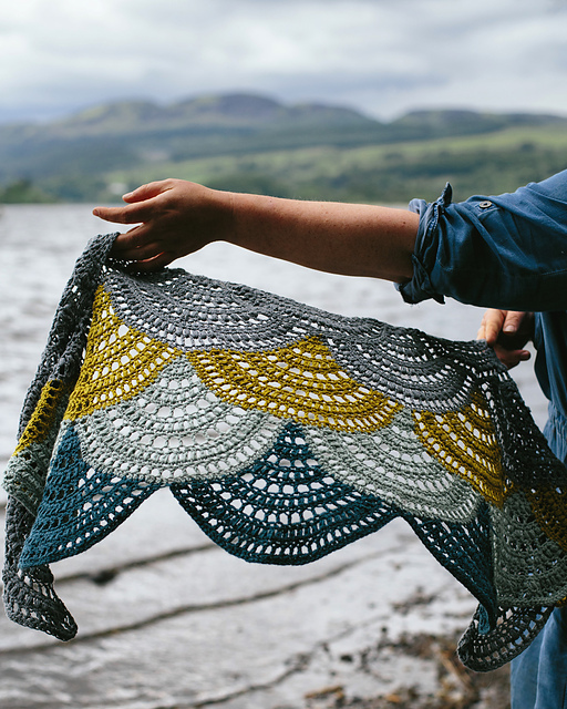 Lake of Menteith Shawl by Kat Goldin