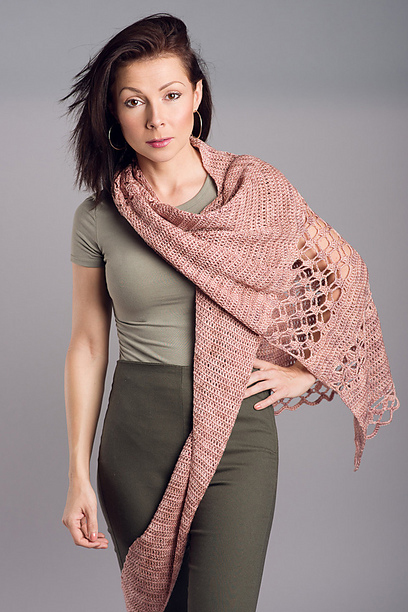 Rose Garden Asymmetric Shawl by Kristina Smiley