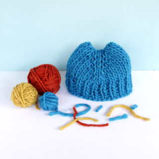 Volcano Hat by Heidi Gustad - get the free, beginner-friendly knitting pattern, as seen on The Knit Show with Vickie Howell!