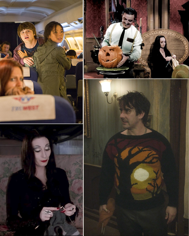 Knitflix for Halloween - some of the best spooky shows for marathon knit & crochet sessions, including The Addams Family, What We Do in the Shadows & Fear the Walking Dead!