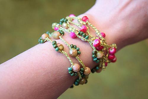 Crochet Wrap Bracelet 76 by Melanie Beth Bachura