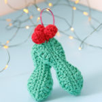 Crochet Holly Ornament