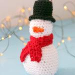Amigurumi Snowman Ornament